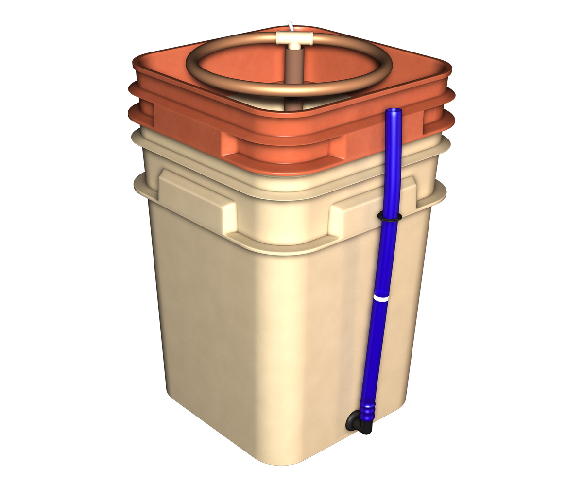 General hydroponics waterfarm farm buckets no pump no rock for Hydroponic pump