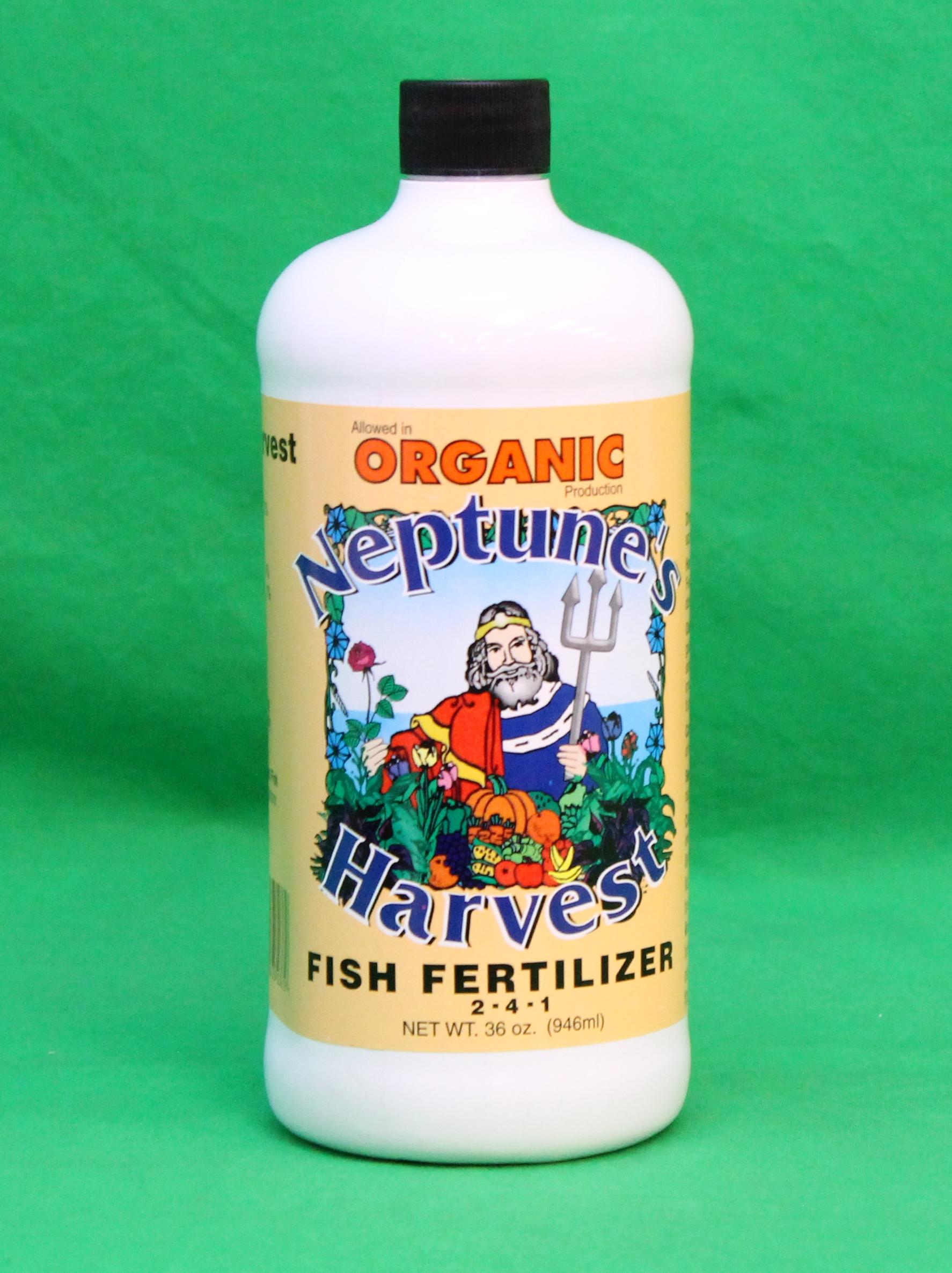 Neptunes harvest fish fertilizer quart for Harvest organic soil