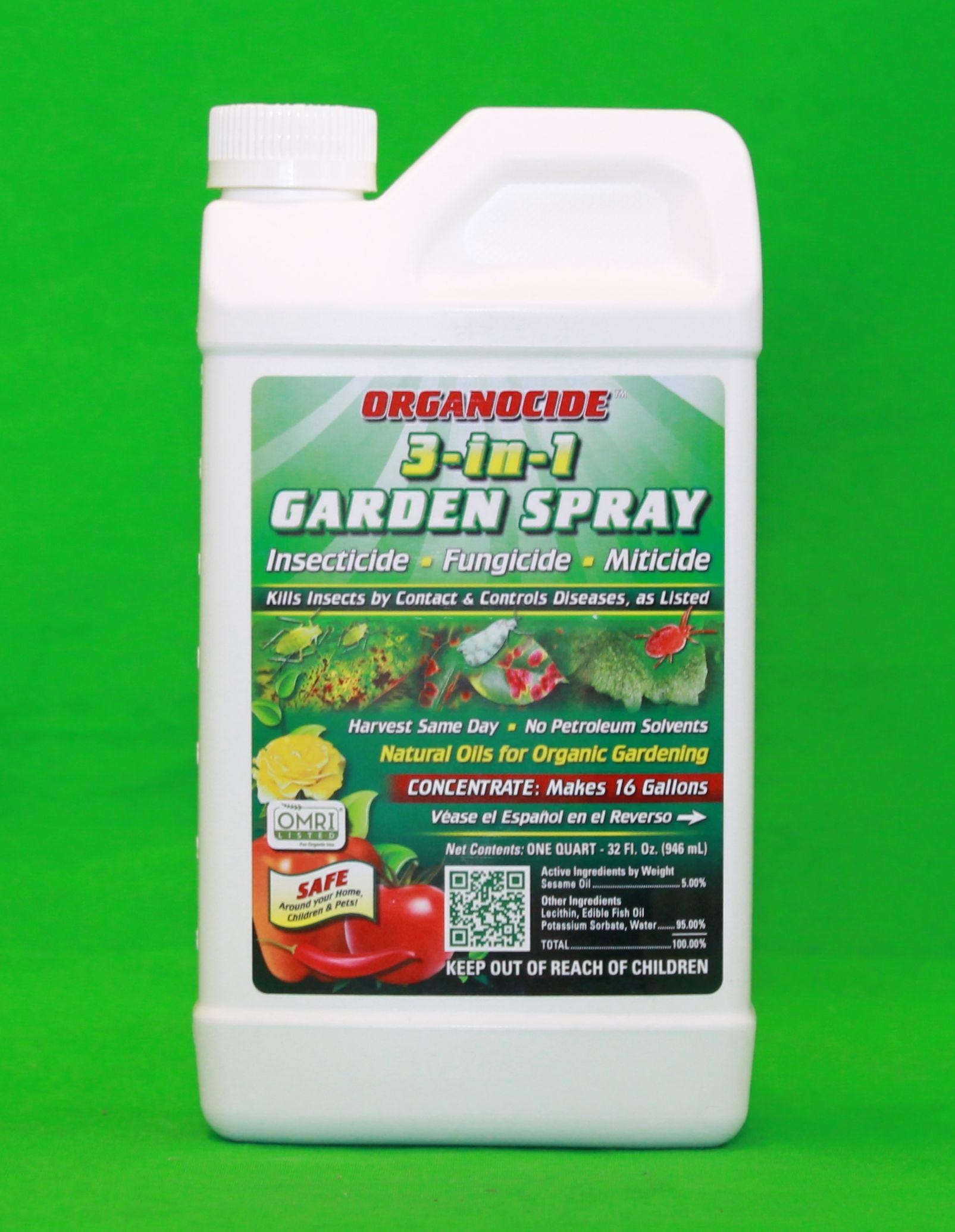 Organocide 3 In 1 Concentrated Garden Spray Insecticide Fungicide Miticide 32 Oz Ebay