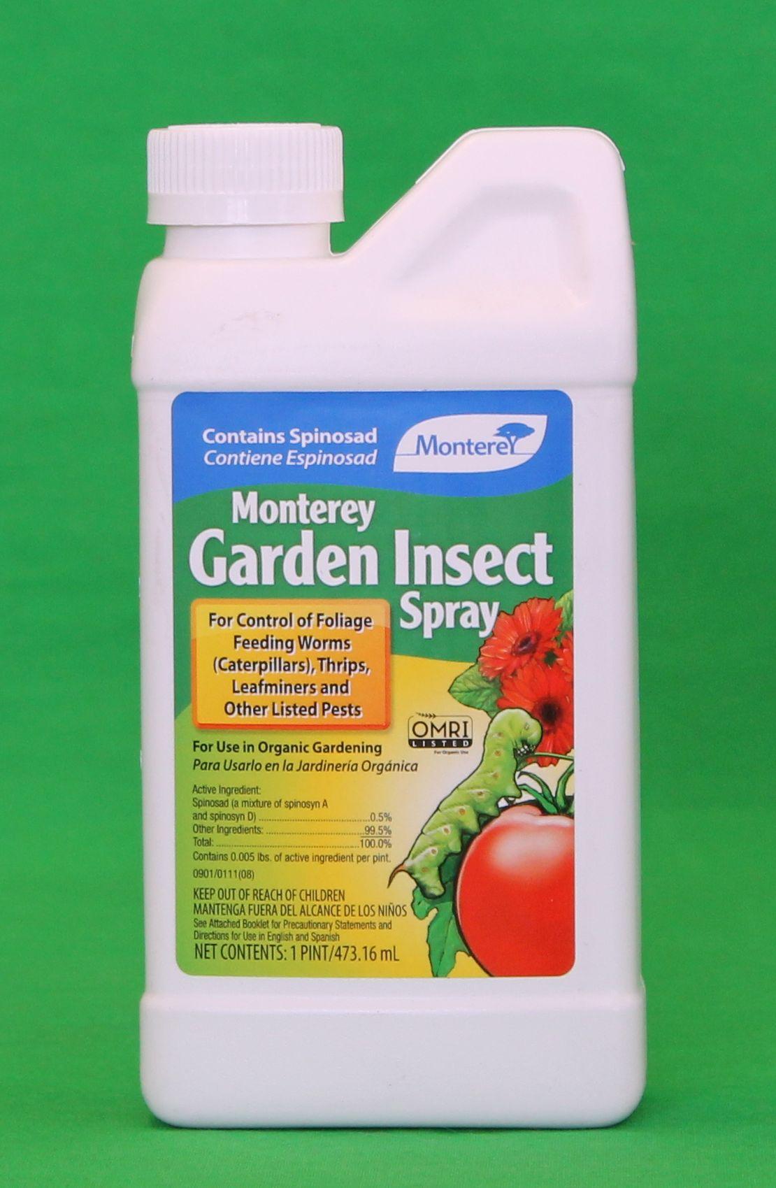New Monterey Garden Insect Spray Spinosad 1 Pint